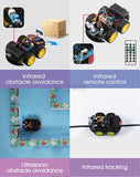 4WD Smart Robot Car Diy Kit for Arduino With Ble UNO,Support IOS/Android Scratch,App Wifi Educational STEM Toy No Soldering Needed