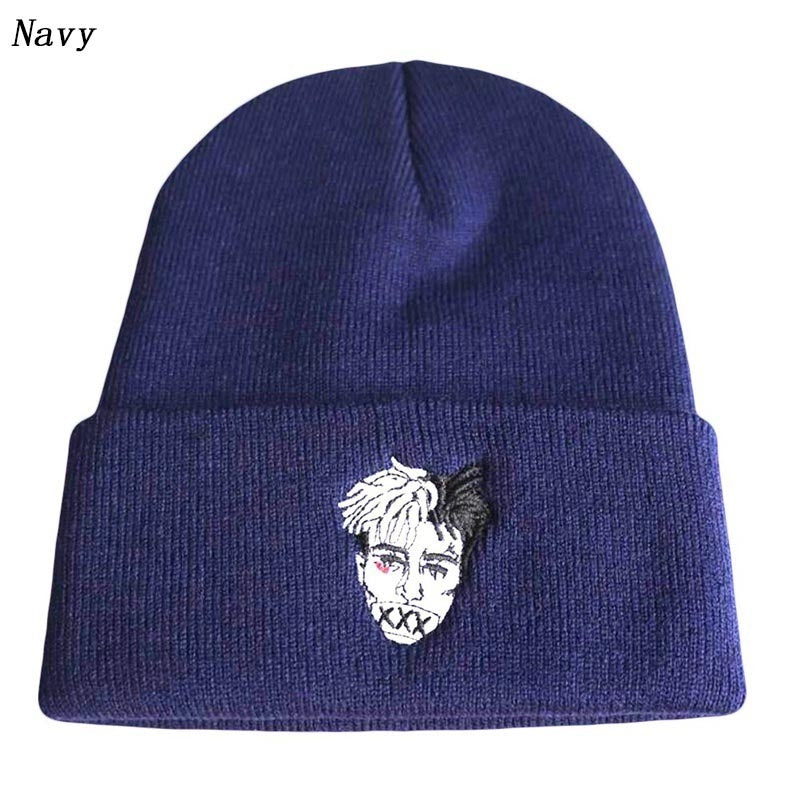 Hip Hop R.I.P Xxxtentacion Embroidery Dreadlocks Skullies Beanies For Men Women Knitted Winter Hat