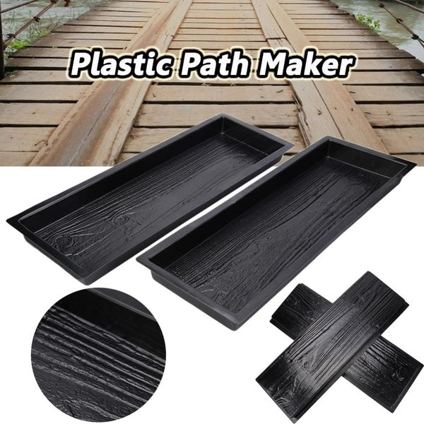 Wood Grain Garden Path Maker Paving Cement Mold Courtyard Road Pavement Tool