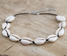 Load image into Gallery viewer, Cowrie Choker Necklace | Sea Shell Choker | Natural Shell Necklace | Cowry Kauri Shell | Ibiza Necklace | Cowrie Shell Choker | Beach