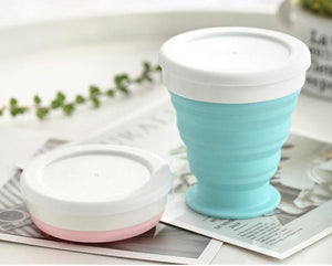 Portable Silicone Telescopic Drinking Collapsible Cup Folding Cups for Travelling