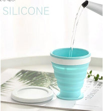 Load image into Gallery viewer, Portable Silicone Telescopic Drinking Collapsible Cup Folding Cups for Travelling