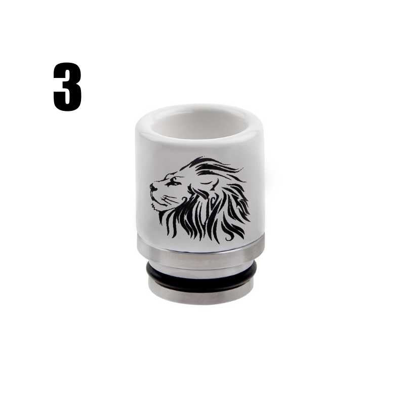 Metal Ceramic 510/810 Drip Tip Mouthpiece Cap E-Cigarette Accessories