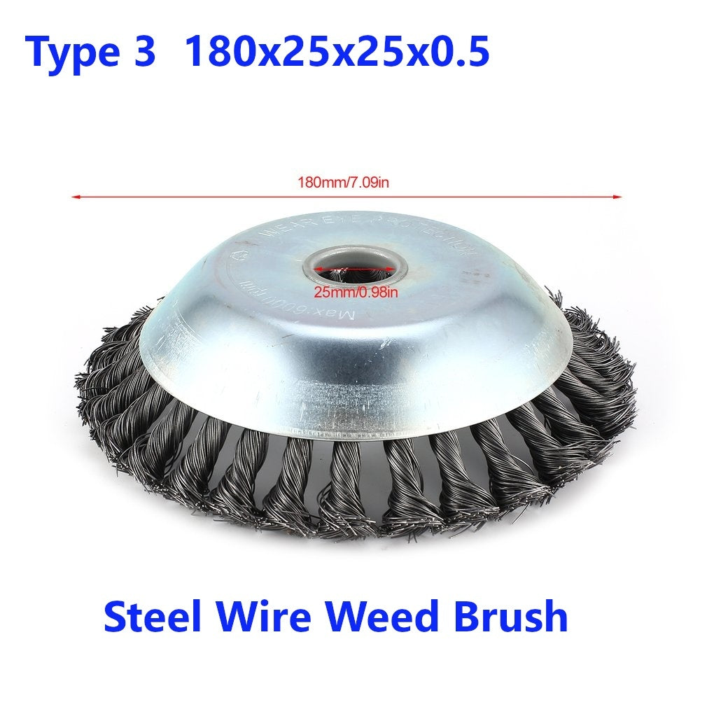 Universal Rotary Brush Nylon Brush/Steel Wire Brush Inner Hole 25mm/25.4mm Universal Trimmer Head AL