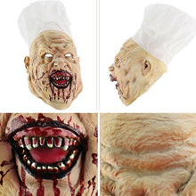 Load image into Gallery viewer, Halloween Latex Mask Terrorist Headgear Haunted House Horror Scary Props