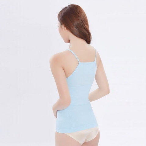 Dreamfactory Body Sculpting Sleeveless Exercise Slimming Sweat Vest Slim Fit Tops Tank Camisole Fat Burning Bodycon Vest