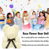 25cm Soap Foam Roses Bear Rose Flower Artificial New Year Women Gifts + Gift Box(Can Pack A 25CM Bear Need Or Not)