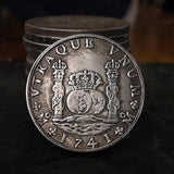 1741 Spanish Philip Silver Dollar Commemorative Skull Coin of Spain Gift