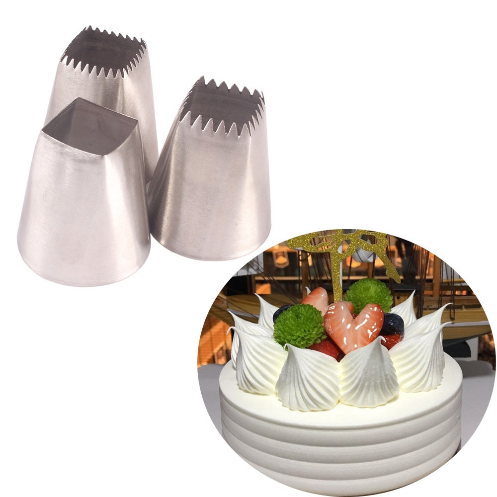 3PCS Bakery Stainless Steel Kitchen Accessories Pastry Tips Cream Nozzle Icing Piping Nozzles Baking Mold Cake Decorating Tool