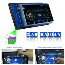 Load image into Gallery viewer, Android 8.1 Double Din GPS Car Stereo Radio 10.1'' 2.5D Tempered Glass Mirror Car MP5 Player With Bluetooth WIFI GPS FM Radio Receiver Suppport Rear Camera