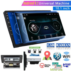 Android 8.1 Double Din GPS Car Stereo Radio 10.1'' 2.5D Tempered Glass Mirror Car MP5 Player With Bluetooth WIFI GPS FM Radio Receiver Suppport Rear Camera