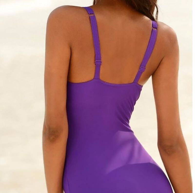 Plus Size Sexy Gradient Color Strapless Swimsuit  Bathing Suit One Piece Women Swimwear