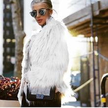 Load image into Gallery viewer, ILF Women Fur Jacket Warm Faux Fox Coat Tops Casual Outwear Overcoat ParkaFur Coat