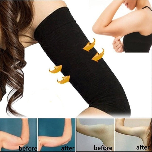 1 Pair Women Weight Loss Thin Arm Shaper Slimming Sleevelet 2 Colors