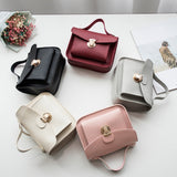 Women Girls Versatile Simple Solid Color Small Purse Mobile Phone Messenger Bags
