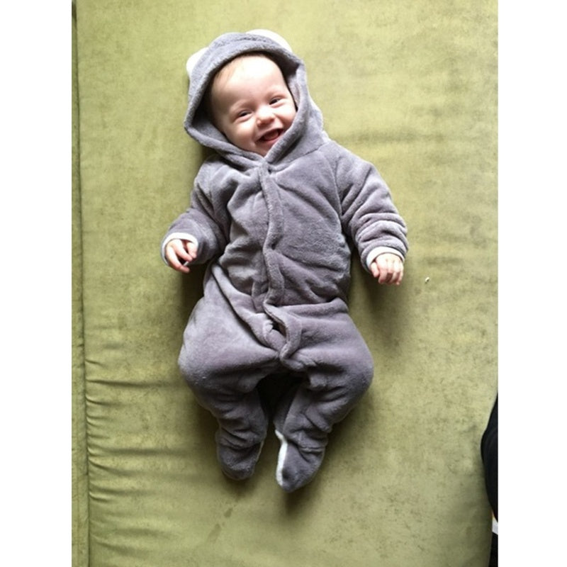 Newborn Baby Climbing Romper Suits Coverall Animal Style Thick Warm Padded Clothes
