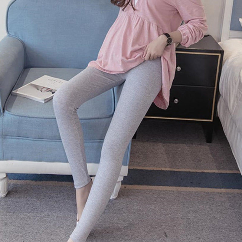 Pregnant Women Slim Leggings Casual Maternity Solid Color High Waist Pants Pregnancy Pencil Pants Clothing