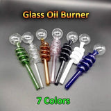 Curved Glass Oil Burner Pipe Pyrex Oil Burner Pipes Smoking Water Hand Pipe