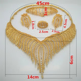 jewelry set Nigeria Dubai gold-color African bead jewelry wedding jewelry set African Bridal Wedding Gifts