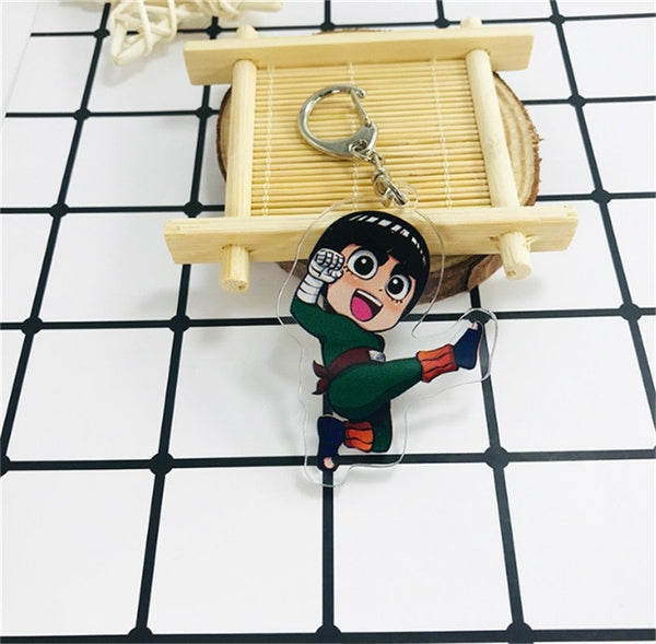 Anime NARUTO Rock Lee Acrylic Pendant Keychain Gifts cosplay