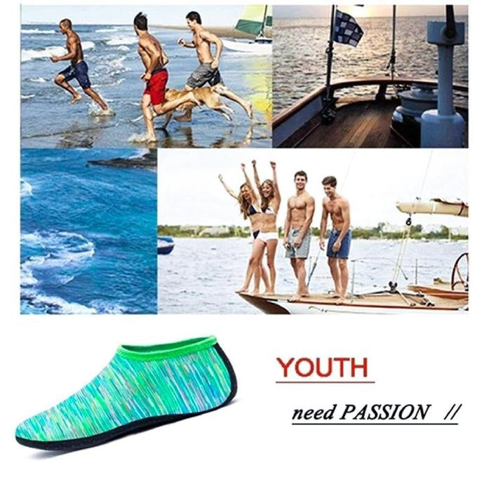 Summer Beach Swimming Water Sport Socks Kids Men Women Snorkeling Anti Slip Shoes Yoga Dance Surfing Diving Shoes Camouflage Striped