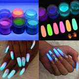 16 PCS Dipping Powder Nail Art Glitter Decorations Set Base Top Coat Gel Dip Powder Nail Kits
