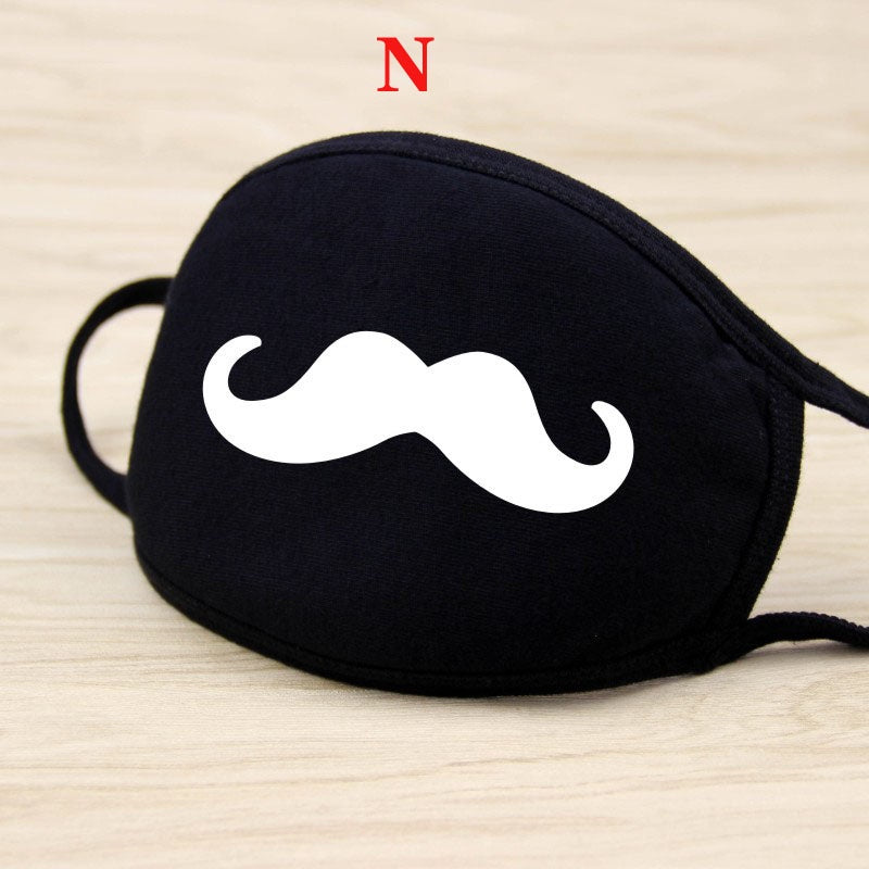 Men and women's fashion Korean cycling dustproof wind proof smog breathable personality facial expression mouth pure cotton mask