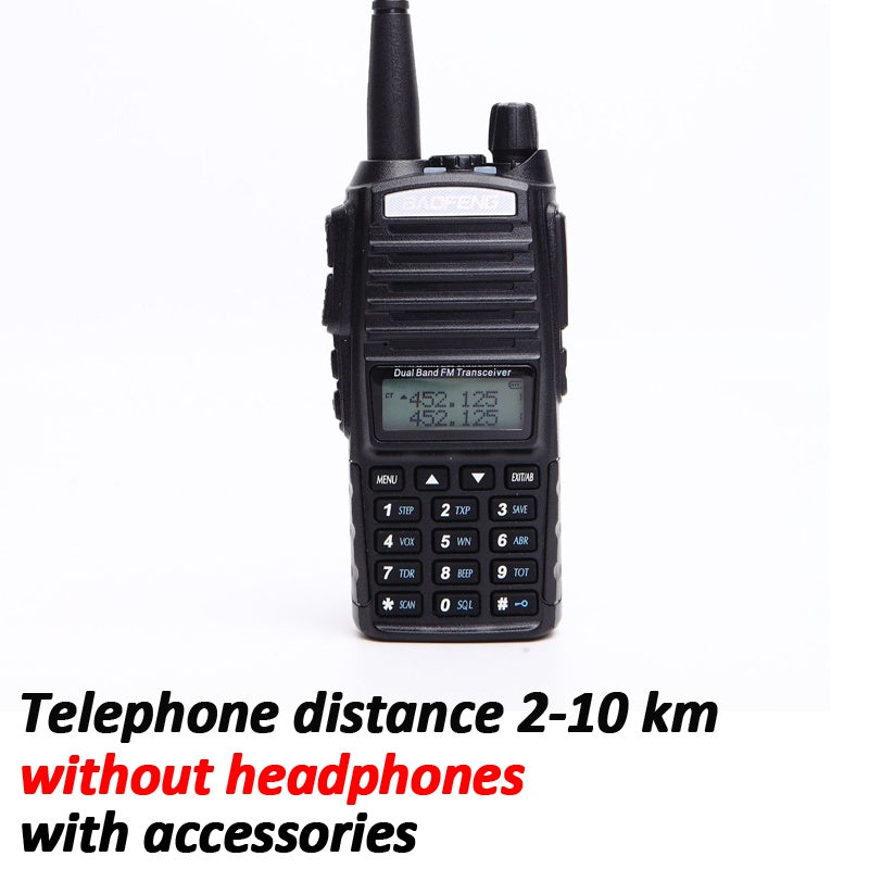 18W High-power Baofeng UV-82 Walkie Talkie Set  LED Lighting Dual Band Handheld Waterproof Dust-proof VHF(136-174MHz) UHF 400-520MHz FM Portable Digital Transceiver