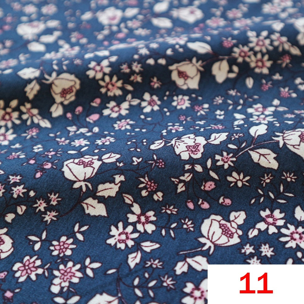 100% Cotton Floral Fabric Countryside Flowers Vintage Dress Costume DIY Table Cloth Materials Sewing Crafts