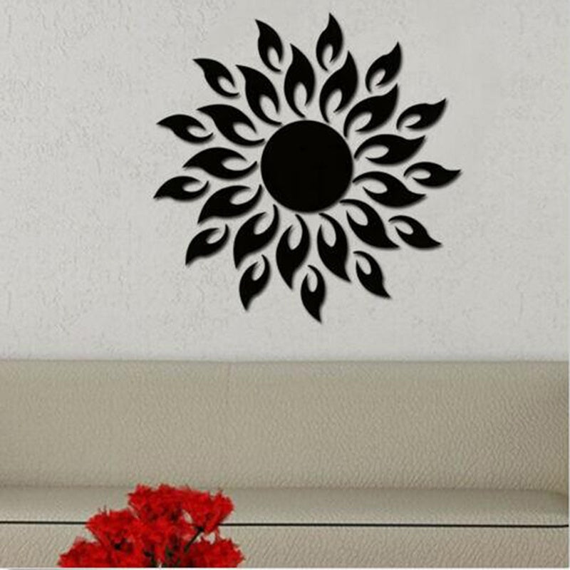 New Sunflower Wall Sticker Home Television Wall Adornment Flowers Floral Decoration Decal