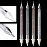 DIY Dual-ended Diamond Painting Point Drill Pen Dotting Pen Rhinestone Studs Picker Wax Pencil Manicure Nail Art Tools