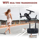 E58 WIFI FPV Folding Drone with Wide Angle HD 720P / 1080P Camera High Hold Mode Foldable Arm RC Quadcopter Drone with Storage Bag + 1PC / 2PC / 3PC Battery