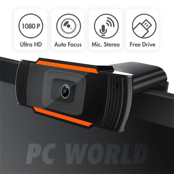 1080P Rotatable USB2.0 Webcam PC Network Live Camera Video Recording with Mic
