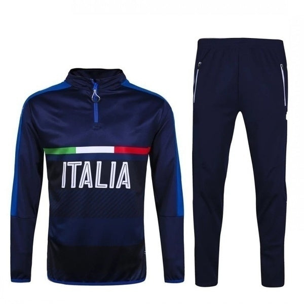 Men's Sport Suit Long Sleeve Casual Tracksuit Set European Cup Italian Jersey Training Suit