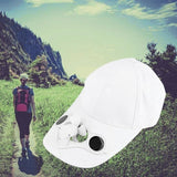 Summer Sport Outdoor Hat Cap With Solar Sun Power Cool Fan For Cycling