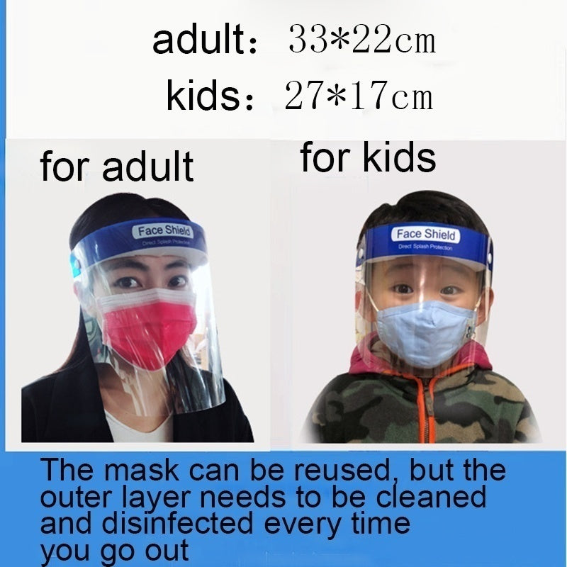 1/2/5 Pcs New Protective Full Transparent Face Shield Safety Isolation Visor Eye Face Protector Shield