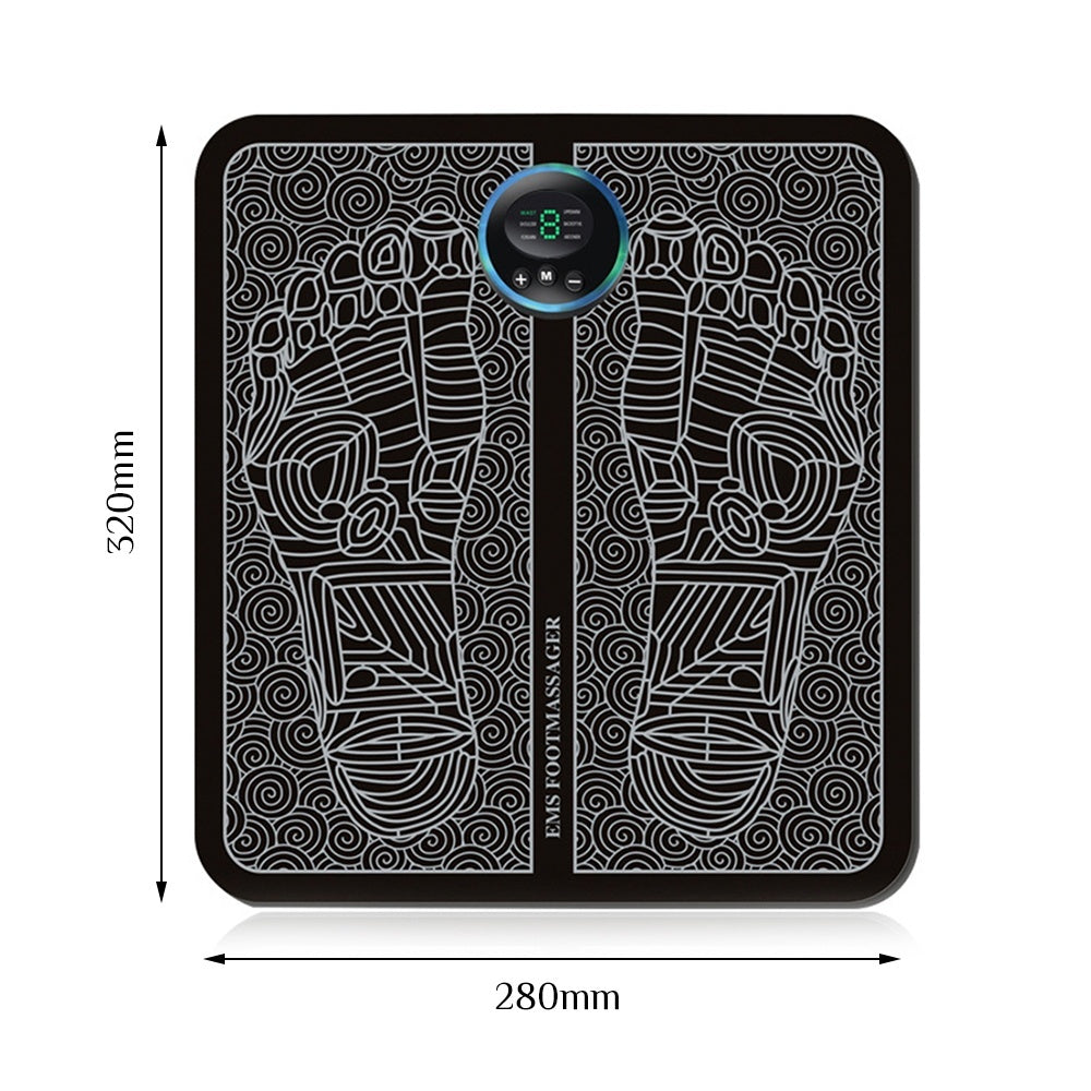 EMS Physiotherapy Foot Massage Relax Pad Foot Massager Booster promote Blood circulation Rechargeable massage machine