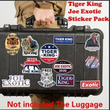 Tiger King Joe Exotic Sticker Pack -Laptop WaterBottle Car Window Flask Flat Surface Vinyl Decal MacBook Sticker Pack