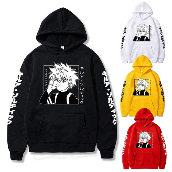 Anime Hunter X Hunter Hoodies Men Women Killua Printed Sweatshirt Autumn And Winter Casual Long Sleeve Hooded Tops