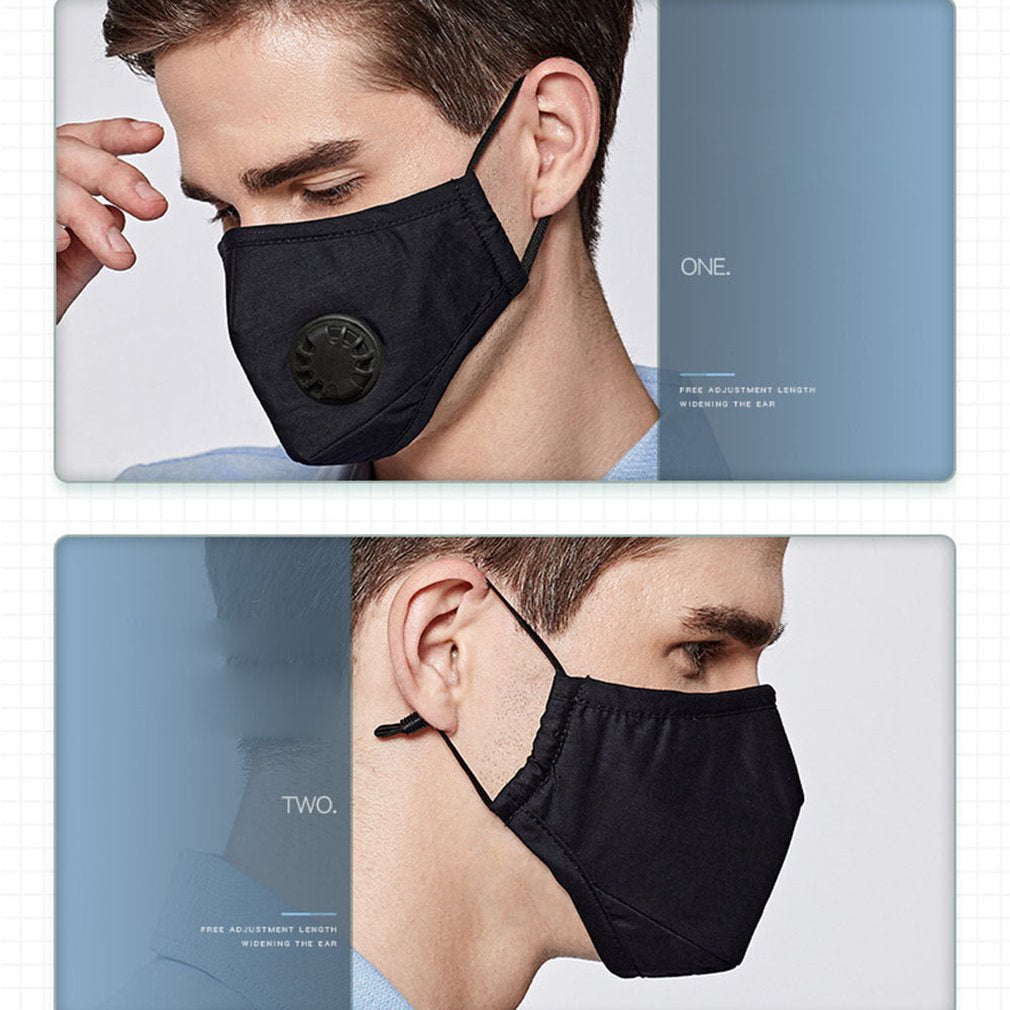Upgraded PM2.5 Activated Carbon Filter & Activated Mouth Mask Mouth Filter Replaceable Filters 5 Layers Outdoor Protective Anti Haze Mask Set