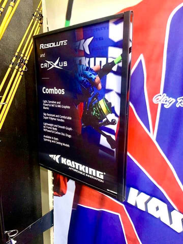 Academy Sports and Outdoors KastKing display at retail stores.
