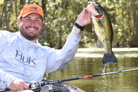 KastKing mlf bass pro cliff crochet catches a fish while dock fishing