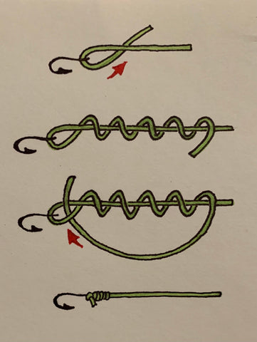 how to tie a clinch knot