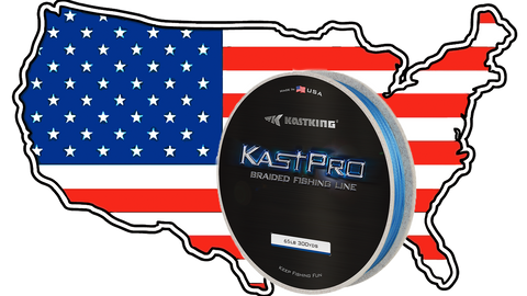 KastKing KastPro braided fishing line made i the USA