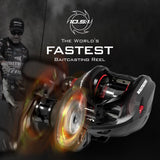 KastKing Speed Demon Elite, the world's fastest baitcasting reel with 10.5:1 gear ratio.