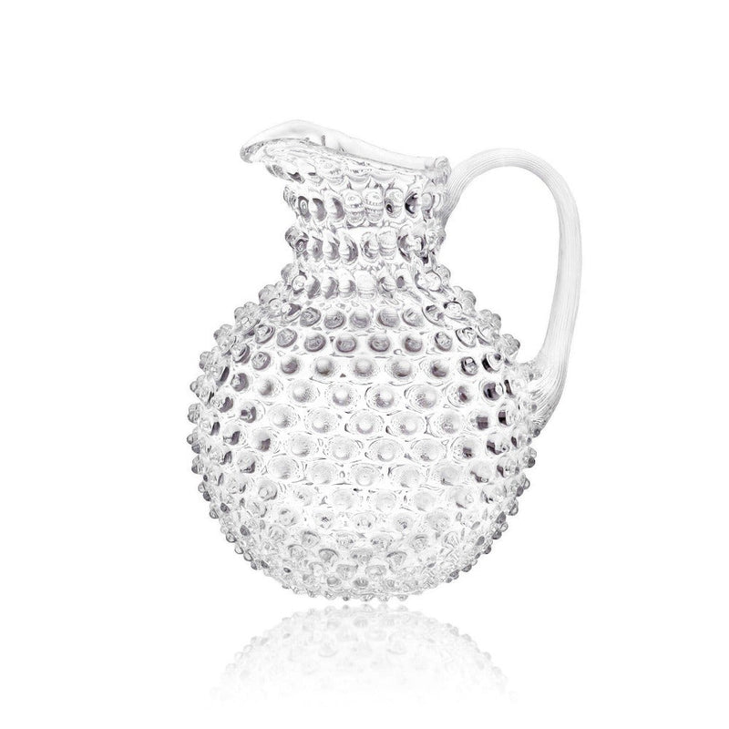 Clear Hobnail Pitcher by KLIMCHI