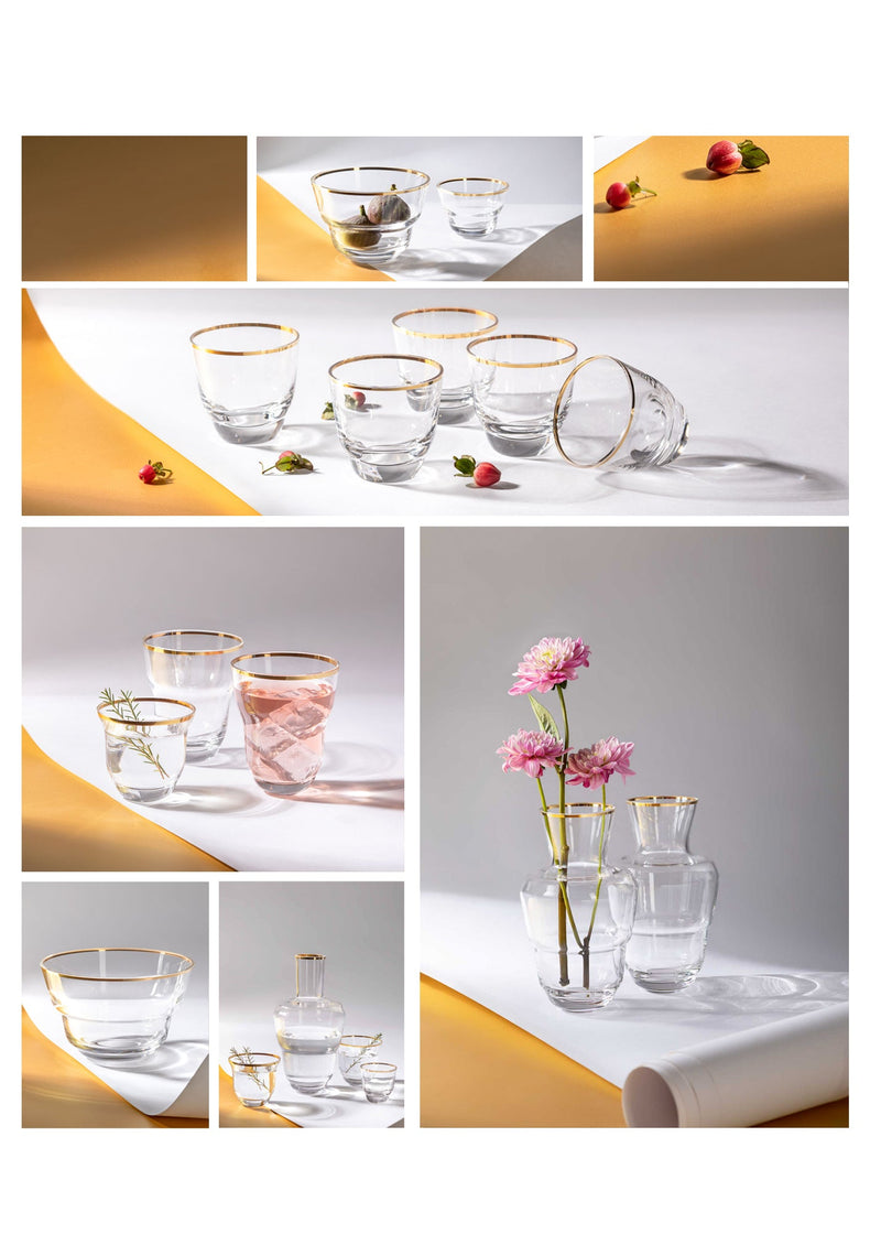 SHADOWS <br> GOLDEN LUX <br> Drinking Glass <br> (Set of 2)