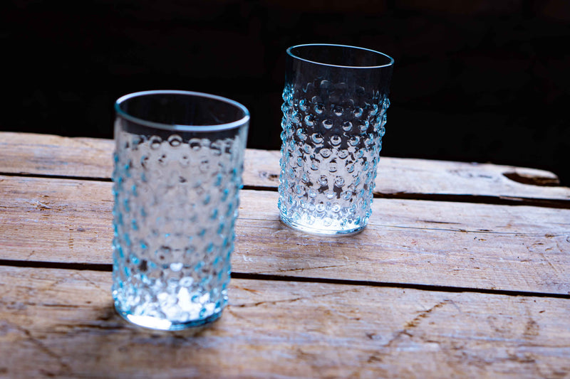 Alexandrite Hobnail Tumblers on the wood by KLIMCHI