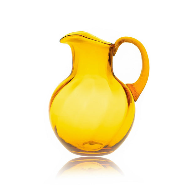 Glass Amber Jug in Marika decor