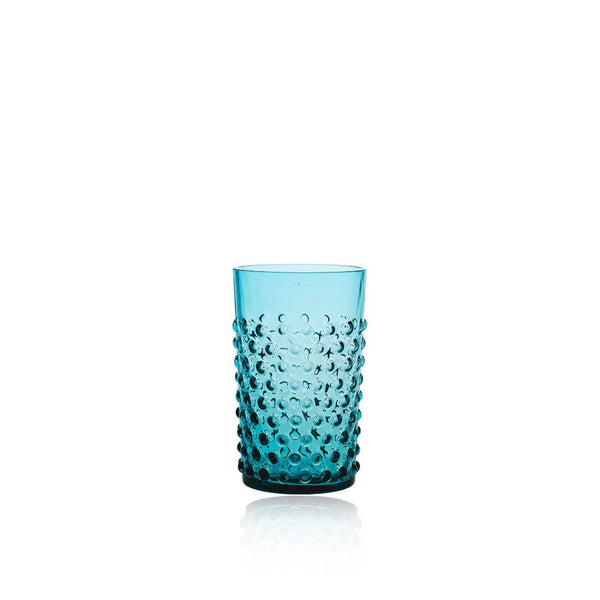 Aquamarine Hobnail Tumbler (set of 6 pieces)